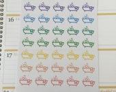 Bathtub Icon Planner Stickers