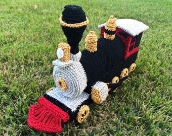 Locomotive Toy, Crocheted Locomotive, Crocheted Train