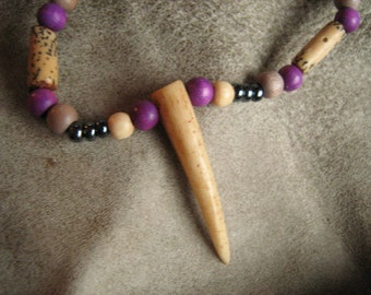 Bone Horn Necklace