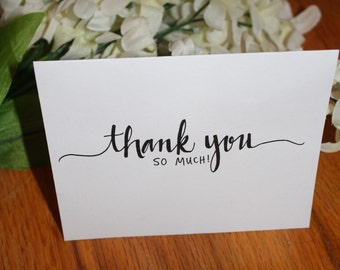 Thank you cards, set of 5