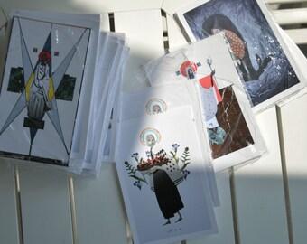 10x15cm Kartki pocztowe z postaciami biblijnymi // 10x15cm Biblical character postcards // Cartes postales avec des personnages bibliques