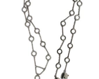 "Vintage Design 4.63ct Single Cut Diamonds 14K Gold, 0.925 Sterling Silver Set Necklace, Dangle Earrings  - ""CUSTOM MADE"""