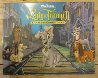 Walt Disney Lady and the Tramp II Scamp's Adventure Lithograph Portolio * Includes 4 Lithograph