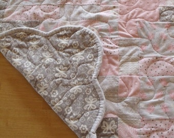 Baby Quilt - Minky Quilt - Baby Blankey - Baby Girl