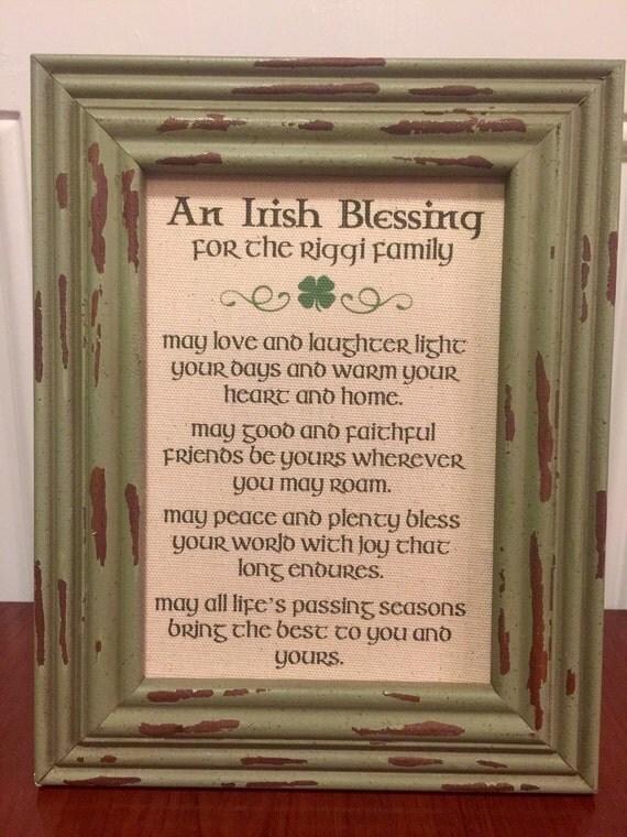 Irish Blessing Canvas Print St Patricks Day Irish By RusticInkCo