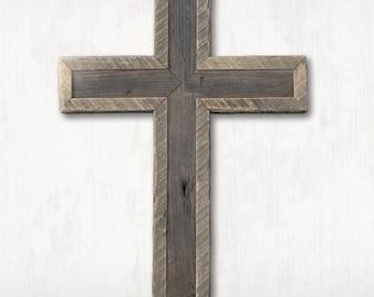 Redwood and Barn wood Cross