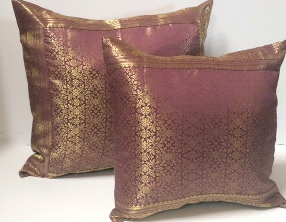 Purple Raj Pillow Cover Decorative throw pillows by TaraDesignLA