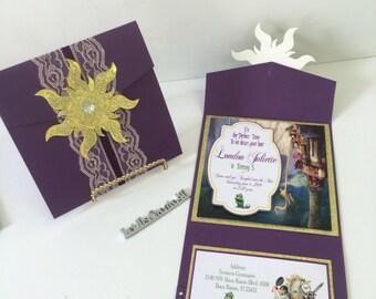 20 Rapunzel birthday party invitations