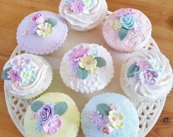 Fake cupcakes, set of 9 fake cupcakes, cake stand decor