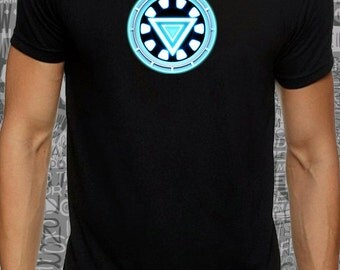 Cool #Men or #women #iron #man #Arc #reactor #print on #white #black or #gray lose or tight #cotton #t-shirt available big sizes - #DreamTee