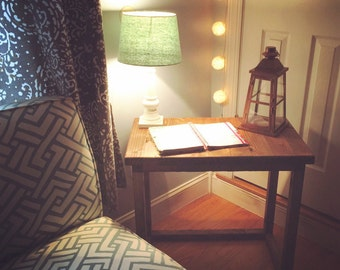 End Table - Reclaimed Wood Table - Wooden Furniture - Rustic Decor
