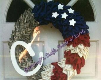 Patriotic Military Wreath #888