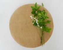 Round Table Toppers, Burlap Table Toppers, Round Burlap Wedding Table Toppers, Centerpieces,Bridal Shower Decor, Set of 4
