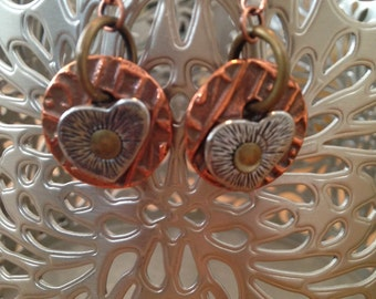 Copper Rivet Heart