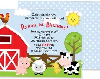 Farm Themed Invitations
