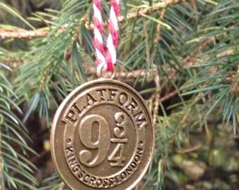 Inspired Platform 9 3/4, Mini Christmas Tree Decoration, Hogwarts, Xmas, Ornament, Harry Potter
