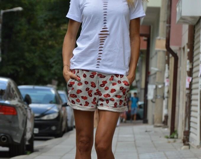 White Cotton Loose Blouse, Oversize White Top, Plus Size Clothing, Extravagant T-shirt, Maxi Top By SSDfashion