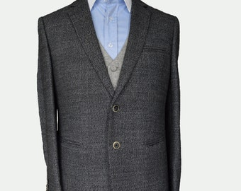 Men's Suit Gray Tweed/ Custom suit