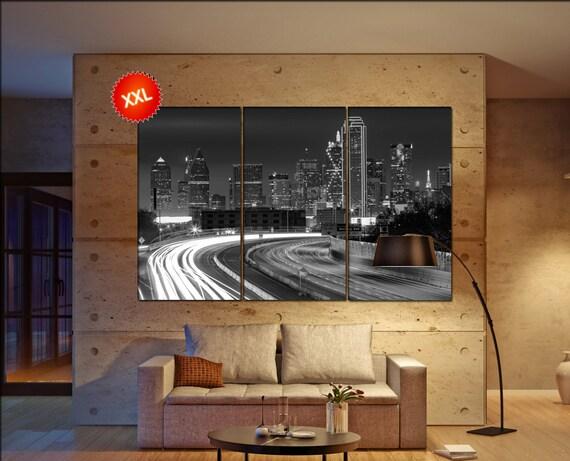 Dallas wall decor art  Dallas black white  Dallas  canvas wall art  canvas wall art