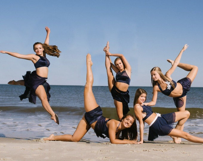 lyrical dance costume, Navy  lyrical contemporary costume,ready to ship lyrical dance costume,