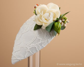 Bride Hat white small peonies