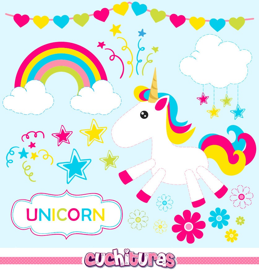 80% OFF SALE Baby Unicorn clipart commercial use unicorns