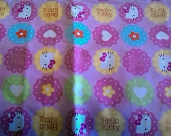 "Valance, Curtain Panel, Matching Pillow ""Hello Kitty"""