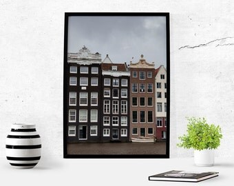 Canal Houses Amsterdam Printable Photography Instant Download Photography Download Amsterdam Art Travel Architecture Photography Decor Fall