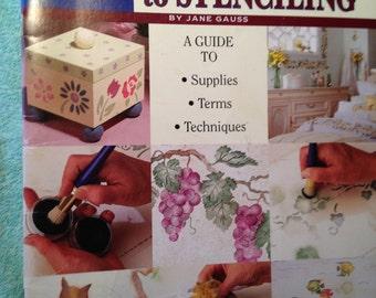 Stencil Decor.  Illustrated Guide to STENCILING #9452