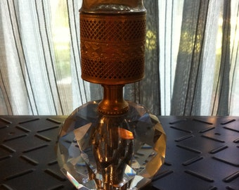 Vintage Evans Table Lighter with Heavy Crystal Base
