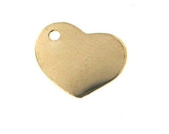 Add a heart charm or disc 14kt gold filled.