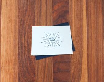 Twinkle Twinkle A2 letterpress card