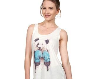 Boxing Panda Tank Top