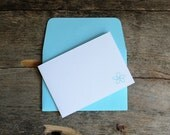 Note Cards ~ Thank You Cards ~ Blank Cards and Envelopes ~ Set of 5 ~ Fold Over Note Cards ~ Blue Envelopes ~ Mini Note Cards ~ Card Set