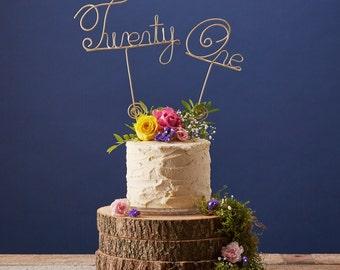 Twenty One Age Birthday Cake Topper. Strong Stainless Steel. Twenty First Birthday Special Occasion Cake Decoration. 21st Birthday.
