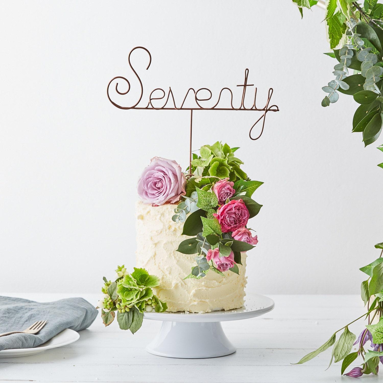 Seventieth Cake Topper