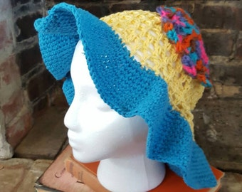 Large Sun Hat, Crochet Floppy Hat, Floppy Hat, Summer Gifts Ideas, Spring Gift Ideas, Sun Hat, Spring Hat, Floppy Sun Hat FREE SHIPPING