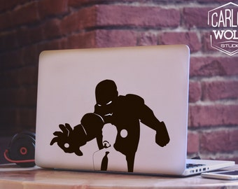 Tony Starks Ironman Macbook Decal ,Laptop Decal, Macbook Sticker, Macbook Accessories, Removable Macbook Sticker, Macbook Air Sticker MD030