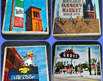 St Louis Coasters - St Louis Missouri - St Louis The Hill - St Louis Gifts - Soulard Market - St Louis Delmar Loop - St Louis Tower Grove