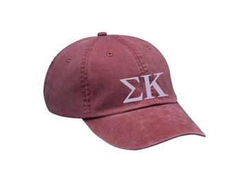 SK Sigma Kappa Letters Hat Choose Your Colors Sorority Hat