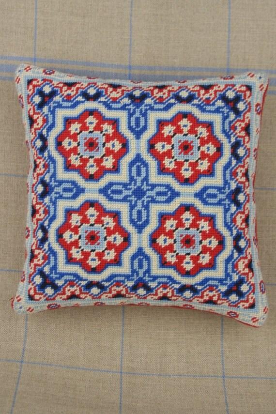 How To Basket Weave Needlepoint : Sajou french cement tile basketweave needlepoint tapestry