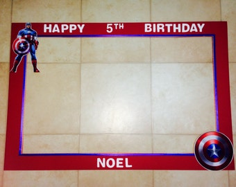 Captain America inspired photo prop frame