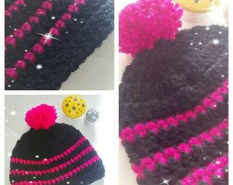 Crochet baby hat / beanie age 0-3 months