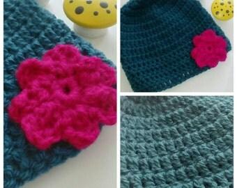Crochet baby beanie / hat in size 6-12 months