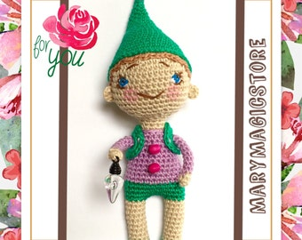 "Gnome 5"" Leprechaun Spring Gift Nice Crochet toy Amigurumi Cute"