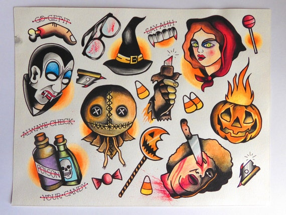 trick r treat flash sheet inspired print