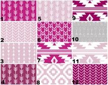 Organic purple, Lavender, lilac crib bedding, mini, standard, twin, changing pad, boppy cover, diaper stacker, curtains, valance
