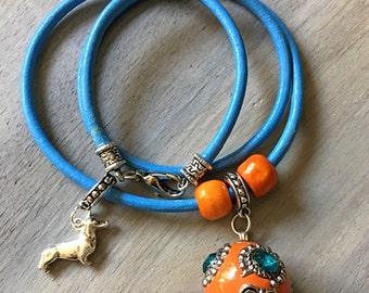 Dachshund Leather Bracelet
