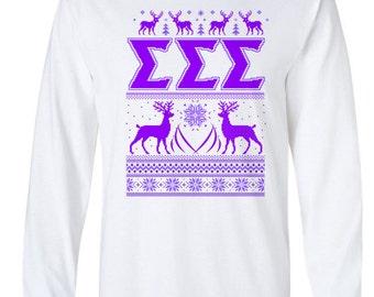 Sigma Sigma Sigma Ugly Sweater Long Sleeve Tee