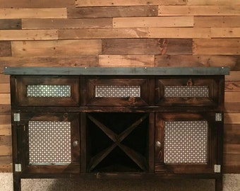 Farmhouse industrial dry bar